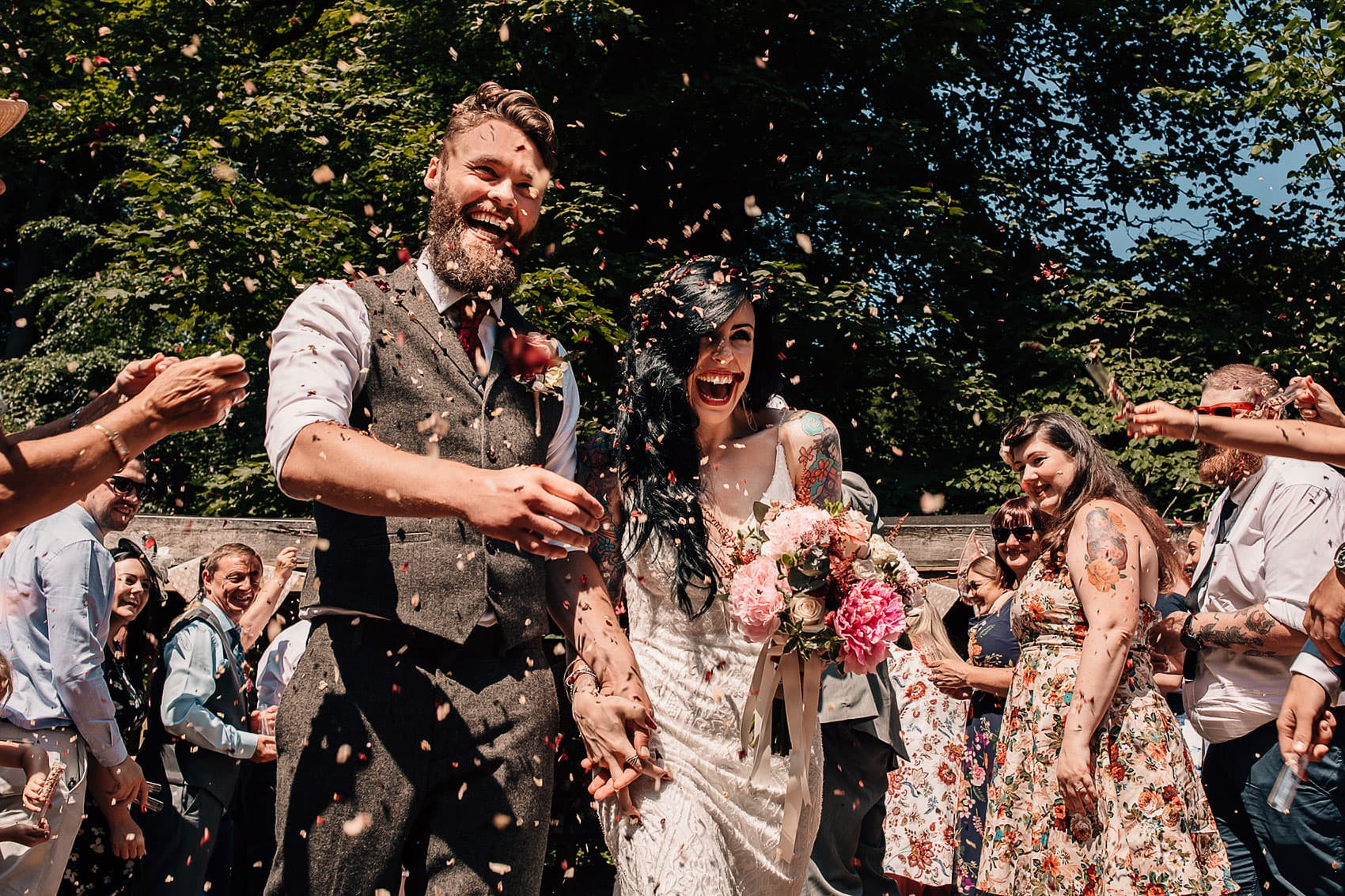 rustic woodland forest wedding photography