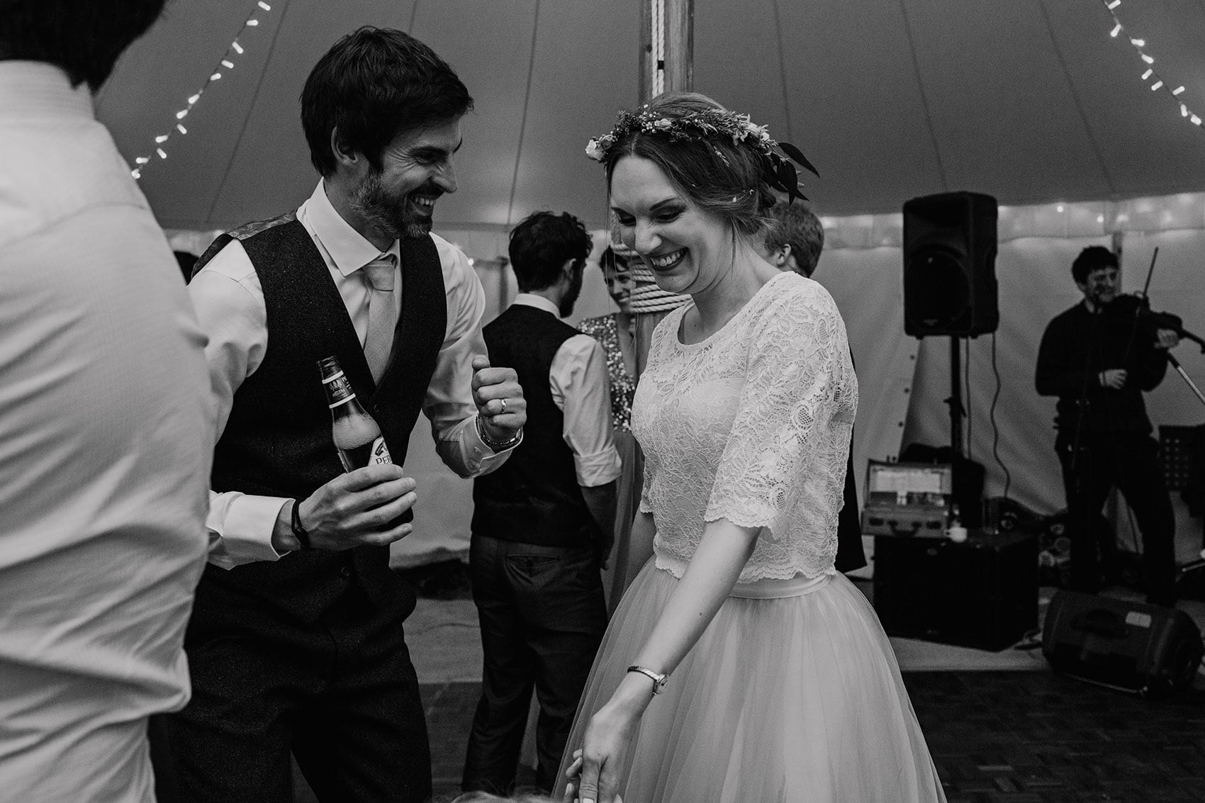 bohemian marquee wedding photography Yorkshire