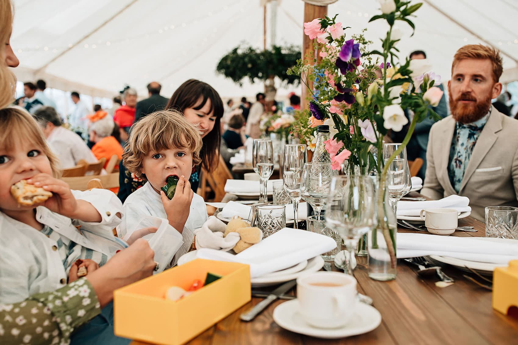 festival style outdoor marquee wedding photography
