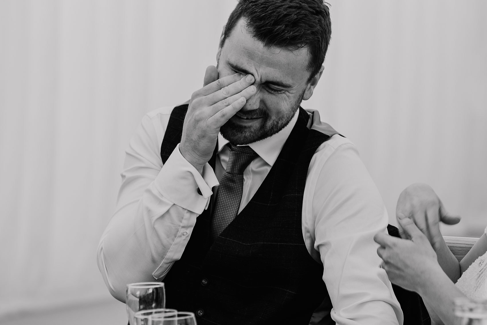 laid back marquee wedding speeches Yorkshire